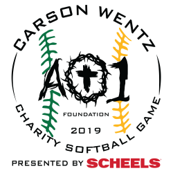 Charity Softball Game ND Logo - Black_Green_Yellow_Year